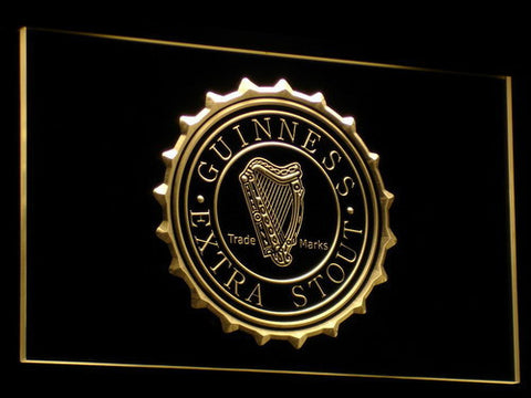 Image of Guinness Extra Stout LED Neon Sign - Yellow - SafeSpecial