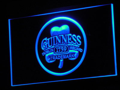 Guinness Ireland LED Neon Sign - Blue - SafeSpecial