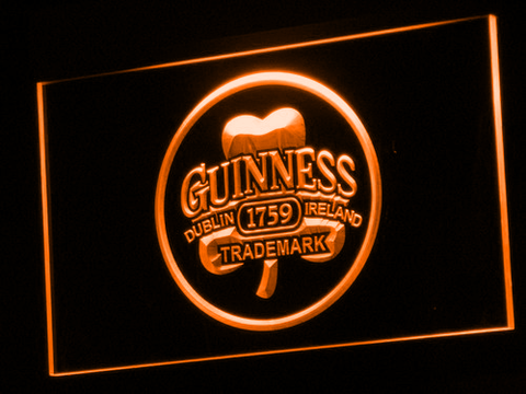 Image of Guinness Ireland LED Neon Sign - Orange - SafeSpecial