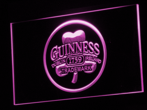 Image of Guinness Ireland LED Neon Sign - Purple - SafeSpecial
