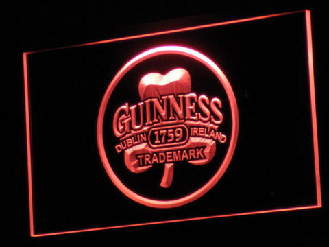 Image of Guinness Ireland LED Neon Sign - Red - SafeSpecial
