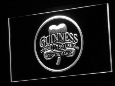 Image of Guinness Ireland LED Neon Sign - White - SafeSpecial