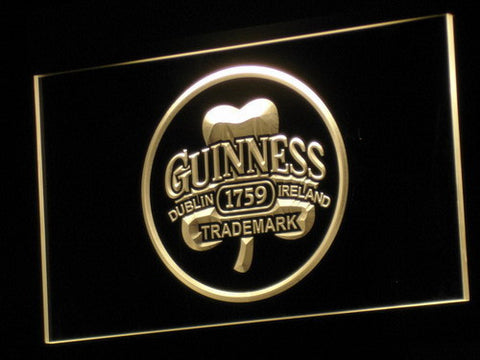 Image of Guinness Ireland LED Neon Sign - Yellow - SafeSpecial