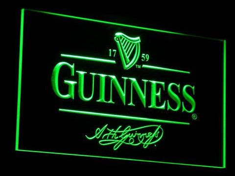 Image of Guinness LED Neon Sign - Green - SafeSpecial