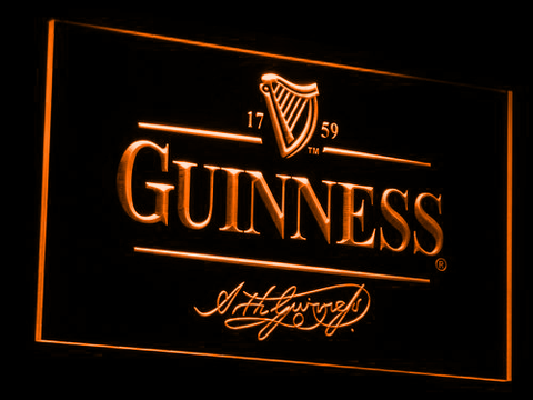 Image of Guinness LED Neon Sign - Orange - SafeSpecial