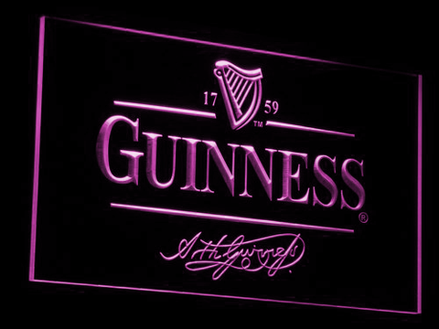 Image of Guinness LED Neon Sign - Purple - SafeSpecial