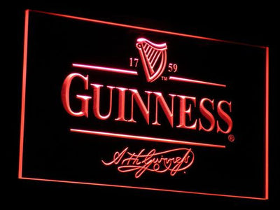 Guinness LED Neon Sign - Red - SafeSpecial