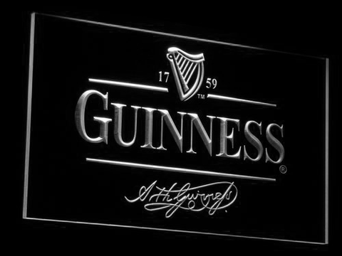 Image of Guinness LED Neon Sign - White - SafeSpecial