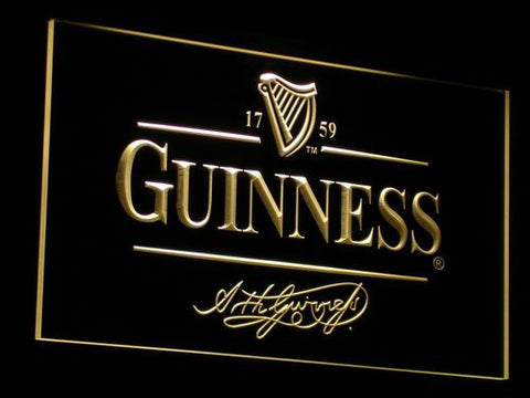 Guinness LED Neon Sign - Yellow - SafeSpecial