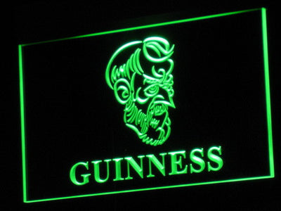 Guinness Old Man LED Neon Sign - Green - SafeSpecial