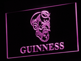 Guinness Old Man LED Neon Sign - Purple - SafeSpecial
