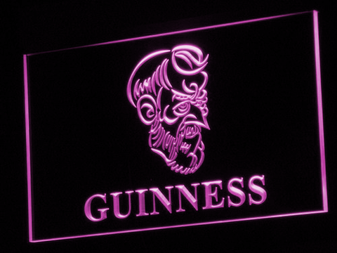 Image of Guinness Old Man LED Neon Sign - Purple - SafeSpecial