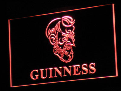 Guinness Old Man LED Neon Sign - Red - SafeSpecial