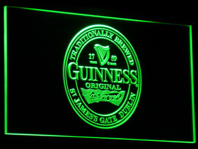 Guinness Original LED Neon Sign - Green - SafeSpecial