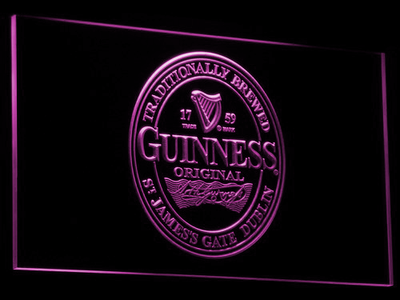 Guinness Original LED Neon Sign - Purple - SafeSpecial