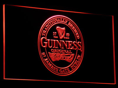 Guinness Original LED Neon Sign - Red - SafeSpecial
