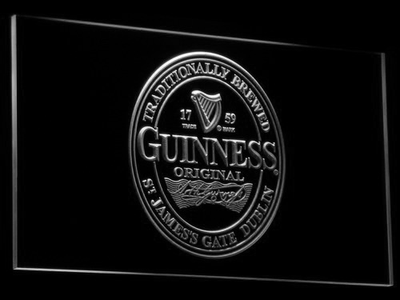 Guinness Original LED Neon Sign - White - SafeSpecial
