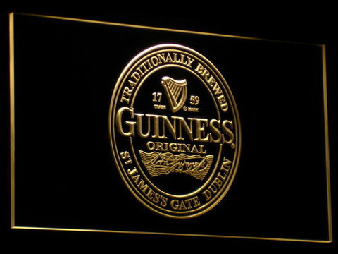 Image of Guinness Original LED Neon Sign - Yellow - SafeSpecial