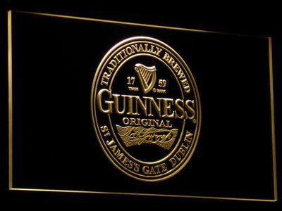 Guinness Original LED Neon Sign - Yellow - SafeSpecial