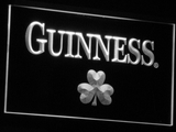 Guinness Shamrock LED Neon Sign - White - SafeSpecial