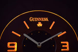 Guinness Shamrock Modern LED Neon Wall Clock - Yellow - SafeSpecial