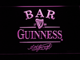 Guinness Signature Bar LED Neon Sign - Purple - SafeSpecial