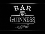 Guinness Signature Bar LED Neon Sign - White - SafeSpecial