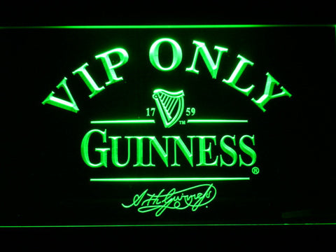 Image of Guinness Signature VIP Only LED Neon Sign - Green - SafeSpecial
