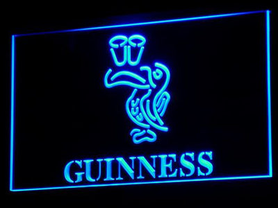 Guinness Toucan LED Neon Sign - Blue - SafeSpecial