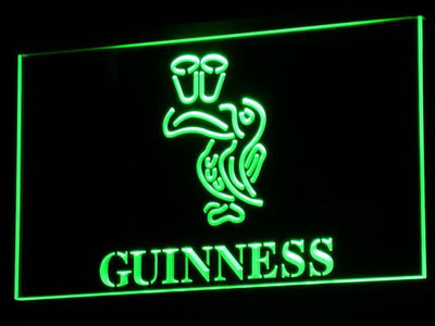 Guinness Toucan LED Neon Sign - Green - SafeSpecial