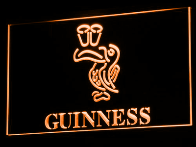 Guinness Toucan LED Neon Sign - Orange - SafeSpecial