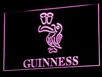 Guinness Toucan LED Neon Sign - Purple - SafeSpecial