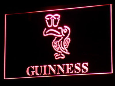 Guinness Toucan LED Neon Sign - Red - SafeSpecial