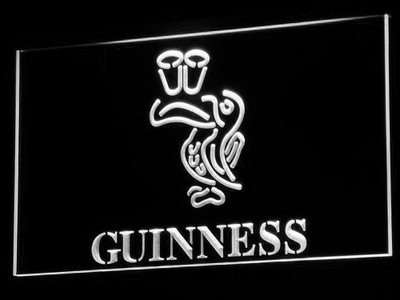 Guinness Toucan LED Neon Sign - White - SafeSpecial