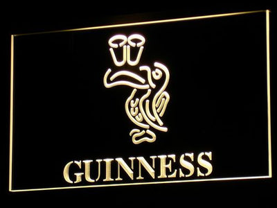 Guinness Toucan LED Neon Sign - Yellow - SafeSpecial