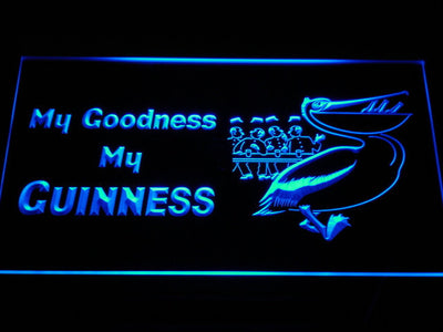 Guinness Toucan - My Goodness LED Neon Sign - Blue - SafeSpecial