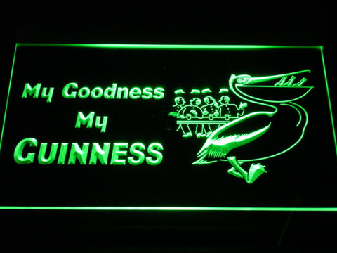 Guinness Toucan - My Goodness LED Neon Sign - Green - SafeSpecial