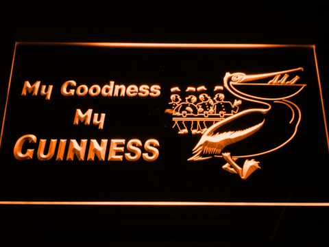 Image of Guinness Toucan - My Goodness LED Neon Sign - Orange - SafeSpecial