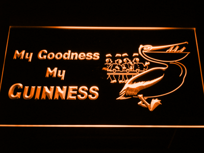 Guinness Toucan - My Goodness LED Neon Sign - Orange - SafeSpecial