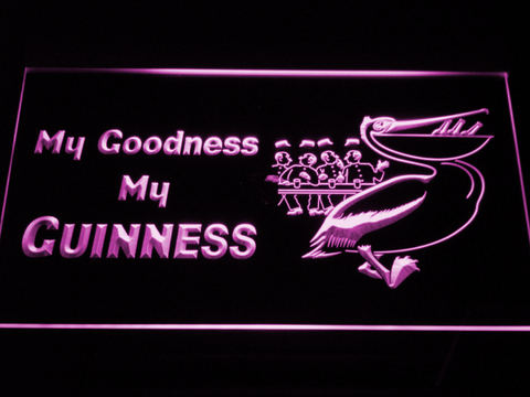 Guinness Toucan - My Goodness LED Neon Sign - Purple - SafeSpecial