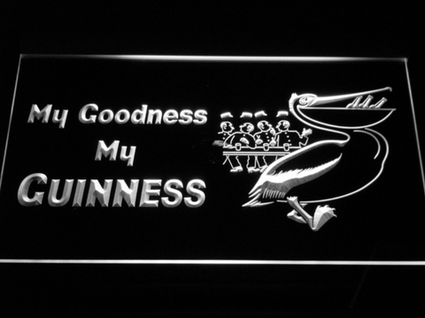Guinness Toucan - My Goodness LED Neon Sign - White - SafeSpecial