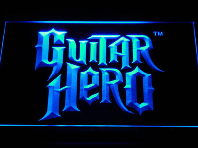 Guitar Hero LED Neon Sign - Blue - SafeSpecial