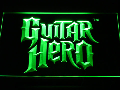 Image of Guitar Hero LED Neon Sign - Green - SafeSpecial