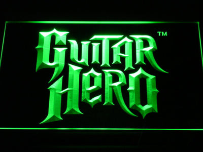 Guitar Hero LED Neon Sign - Green - SafeSpecial
