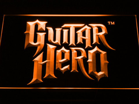 Image of Guitar Hero LED Neon Sign - Orange - SafeSpecial