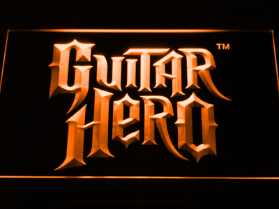 Guitar Hero LED Neon Sign - Orange - SafeSpecial
