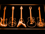Guitar LED Neon Sign - Orange - SafeSpecial