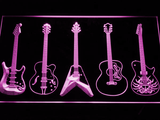 Guitar LED Neon Sign - Purple - SafeSpecial
