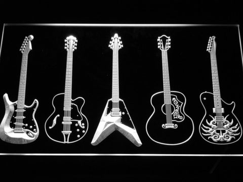 Guitar LED Neon Sign - White - SafeSpecial