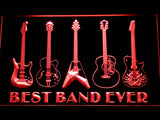 Guitars Best Band Ever LED Neon Sign - Red - SafeSpecial